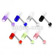 316L Surgical Stainless Steel Barbells with Acrylic Pills 140pcs (20pcs x 7 colors)