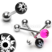 Starburst Acrylic Balls 316L Surgical Steel Barbell