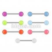 Barbell with Glow In The Dark Balls 140pc Pack (20pcs x 7 colors)