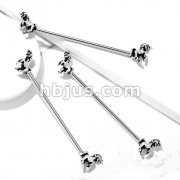 Unicorn on Both Sides 316L Surgical Steel Industrial Barbells