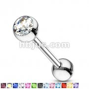 Press Fit Gem Set Ball 316L Surgical Steel Barbell