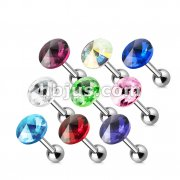 100 Pcs 316L Surgical Steel Pointy Austrian Crystal Cartilage/Tragus Barbell Bulk Pack (20pcs x 9 colors)