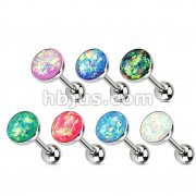 70pcs Opal Glitter Set Top 316L Surgical Steel Barbell Mix Bulk Pack (10 pcs x 7 Colors)
