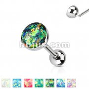 Imitation Opal Set 316L Surgical Steel Barbells