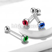 Snake Eye Inlaid Ball 316L Surgical Steel Barbells
