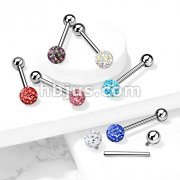 Internally Threaded 316L Surgical Steel Barbell with Ferido Ball