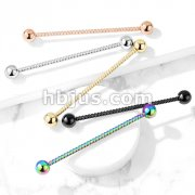 Twisted Rope 316L Surgical Steel Industrial Barbell
