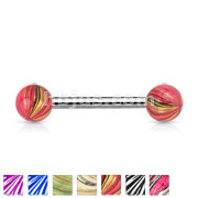 Multi Color Plated 316L Surgical Steel Balls and Extra Clear Electric Coated 316L Surgical Steel Barbells