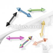Spike Barbell Titanium IP Over 316L Surgical Steel