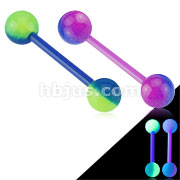 2-Color Glow In The Dark Ball Acrylic Flexible Barbell