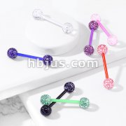Ultra Glitter Acrylic Balls Flexible PTFE Barbell