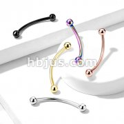 316L Surgical Steel Curved Barbell for Snake Eye Piercing and More
