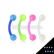 80 Pcs Bio flex Eyebroiw Curve with Glow In The Dark Balls Bulk Pack (20 pcs x 4 Colors)