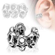 Skulls Brass Non Piercing Ear Cuff