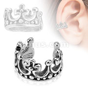 Crown Brass Non Piercing Ear Cuff