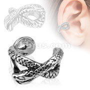 Snake Brass Non Piercing Ear Cuff