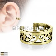 Filigree Heart Cut Out Non-Piercing Ear Cuff