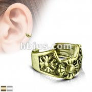 Fleur de Lis Cross Non-Piercing Ear Cuff