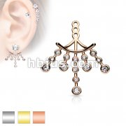 CZ Set Chandelier Earring Jacket / Cartilage Stud Add on Dangle