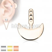 Crescent Earring Jacket / Cartilage Stud Add on Dangle