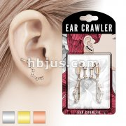 Pair of CZ Set Big Dipper Prepacked Ear Crawler/Ear Climber