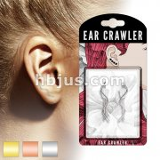 Pair of Plain Wire Wave Prepacked Ear Crawler/Ear Climber