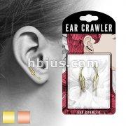 Pair of Tribal Feather Prepacked Ear Crawler/Ear Climber
