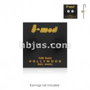 100 Pieces of Gold Earring Carding