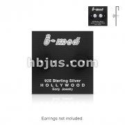 100 Pieces of Silver Earring Carding