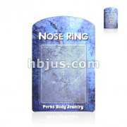 100 Pcs Pack Nose Ring Package with 6-Hole Clear Insert.
