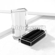 Clear Acryl Gem Box with Black or White Velvet Insert.