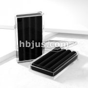 Clear Acryl Gem Box with Black Velvet Insert