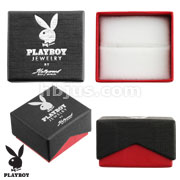 Playboy Logo Cardboard Jewelry Box with White Velvet Insert