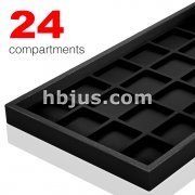 24 Velvet Compartment Full Size Plastic Tray