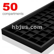 50 Velvet Compartment Full Size Plastic Tray