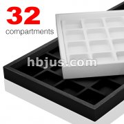 32 Velvet Compartment Full Size Plastic Tray
