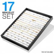 17 Pcs of Assorted Stainless Steel Anklets/Bracelets Package