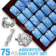 75pcs Assorted Mix Ear Cuff Bonus Packages