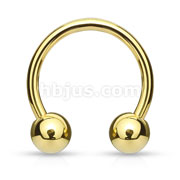 Gold Plated Over 316L Surgical Steel Horseshoe/Circular Barbells