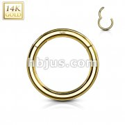 High Quality Precision 14 Karat Solid Yellow Gold Hinged Segment Rings