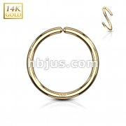 14Kt. Gold Bendable Hoop Rings For Ear Cratilage, Septum, Eyebrow, Nose and More