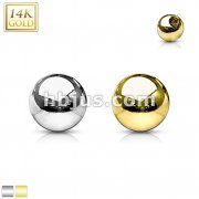 14 Karat Solid Yellow Gold Threaded Replacement Ball Top