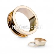 Rose Gold IP Over 316L Surgical Steel Screw FitFlesh Tunnel