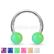 Matte Finish Pearlish Ball 316L Surgical Steel Horseshoe/Circular
