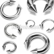 Spikes 316L Surgical Stainless Steel Circular Barbells
