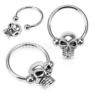 Skull Captive 316L Surgical Steel Horseshoe/Circular barbell