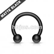 Matte Black IP Horseshoe 316L Surgical Steel