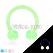 Flexible Shaft Horseshoe/Circular with Glow in the Dark Balls