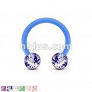 Ultra Glitter Acrylic Balls Flexible Horseshoe/Circular
