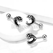 Eagle Claw 316L Surgical Steel Cartilage, Tragus Barbell Studs